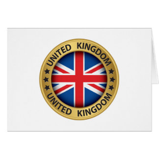 United Kingdom Thank You or Blank Note Card