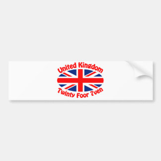 United Kingdom - Twinty Foor 7ven Bumper Stickers