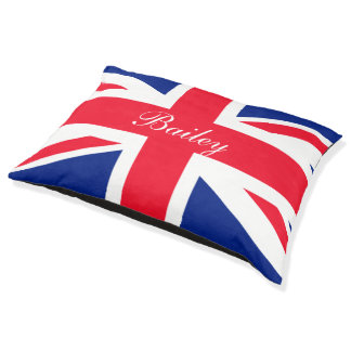 United Kingdom UK Union Jack Personalized Flag Pet Bed