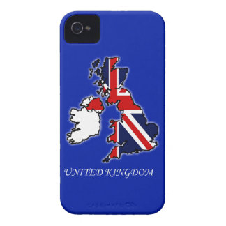 United Kingdom Union Jack Flag Map iPhone 4/4S Case-Mate iPhone 4 Case