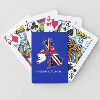 United Kingdom Union Jack Flag Map Playing Cards