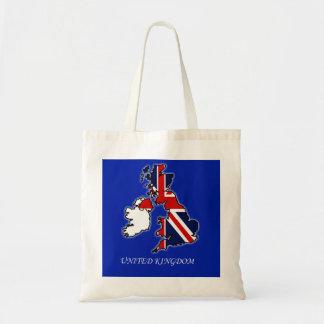 United Kingdom Union Jack Flag Map Tote Bag