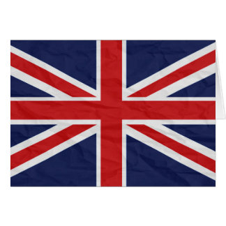United Kingdom Union Jack Flag Note Card