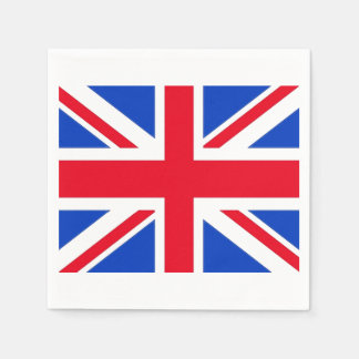 United Kingdom Union Jack Paper Party Napkins Standard Cocktail Napkin