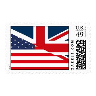United_Kingdom_USA Flag Postage