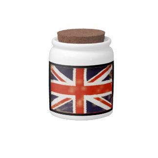 United Kingdom Vintage Union Jack Candy Jar