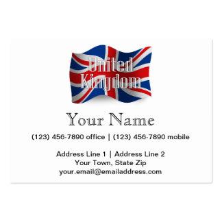 United Kingdom Waving Flag Business Cards