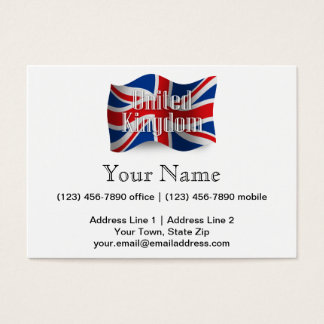 United Kingdom Waving Flag Business Card