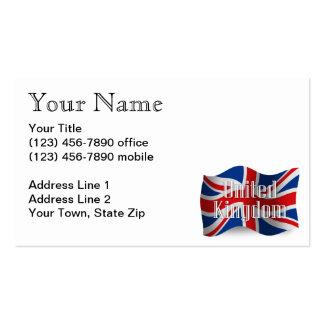 United Kingdom Waving Flag Business Card
