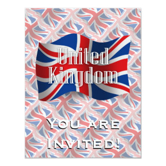 United Kingdom Waving Flag Card