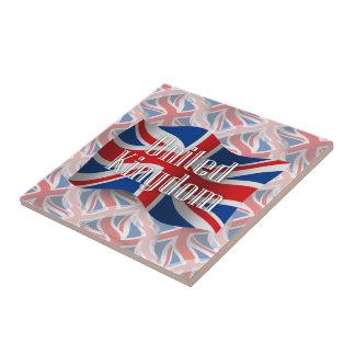 United Kingdom Waving Flag Ceramic Tile