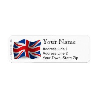 United Kingdom Waving Flag Label