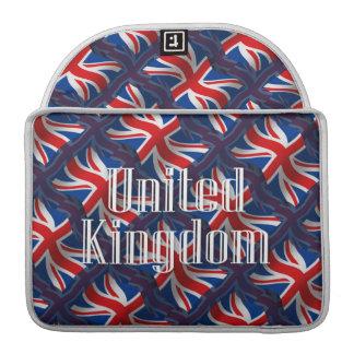 United Kingdom Waving Flag Sleeves For MacBooks