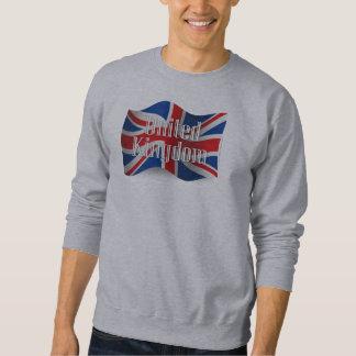 United Kingdom Waving Flag Pullover Sweatshirt