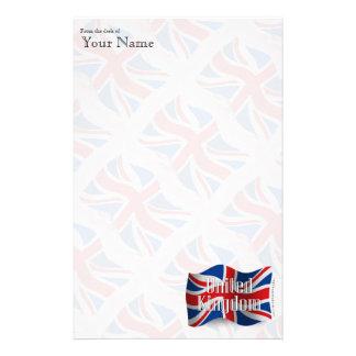 United Kingdom Waving Flag Stationery