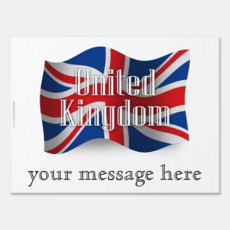United Kingdom Waving Flag Yard Sign