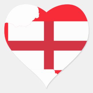 United Kingdom who live in New York. Heart Sticker