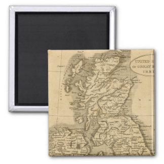 United Kingdoms 2 Inch Square Magnet