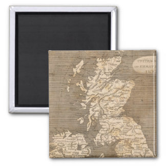 United Kingdoms Map by Arrowsmith 2 Inch Square Magnet