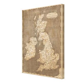 United Kingdoms Map by Arrowsmith Canvas Print