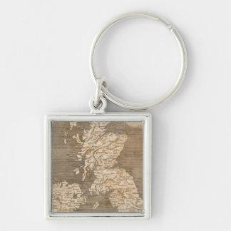 United Kingdoms Map by Arrowsmith Keychain