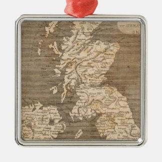 United Kingdoms Map by Arrowsmith Metal Ornament
