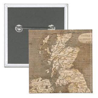 United Kingdoms Map by Arrowsmith Pinback Button