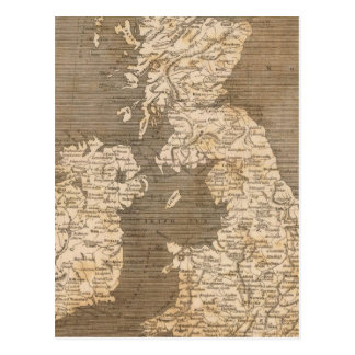 United Kingdoms Map by Arrowsmith Postcard