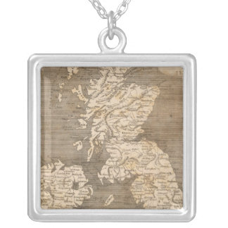 United Kingdoms Map by Arrowsmith Silver Plated Necklace