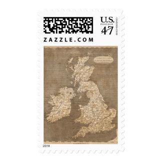 United Kingdoms Map by Arrowsmith Stamp
