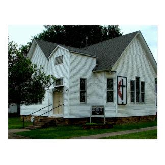 United Methodist Church -  Longton, Kansas Postcard
