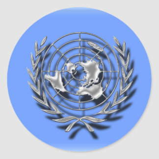 United Nations (artistic flag) Classic Round Sticker