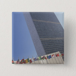 United Nations building Pinback Button