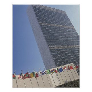 United Nations building Poster
