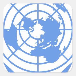 United Nations Emblem Square Sticker