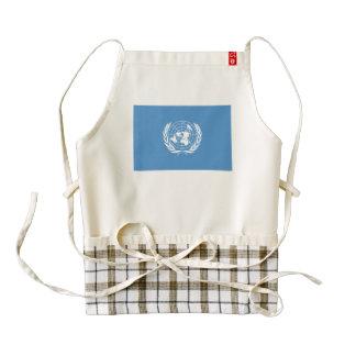 United Nations Flag Zazzle HEART Apron