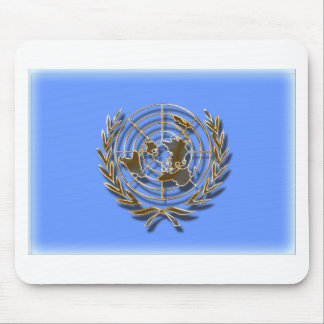 United Nations Gold (artistic flag) Mouse Pad
