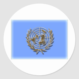 United Nations Gold (artistic flag) Classic Round Sticker