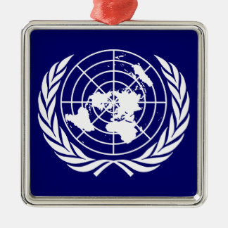 United Nations Metal Ornament
