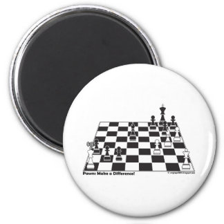 United Pawns Check Mate King Chess Board Set Game 2 Inch Round Magnet