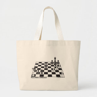 United Pawns Check Mate King Chess Board Set Game Canvas Bag