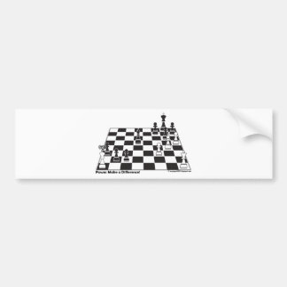 United Pawns Check Mate King Chess Board Set Game Car Bumper Sticker