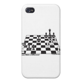 United Pawns Check Mate King Chess Board Set Game iPhone 4 Covers