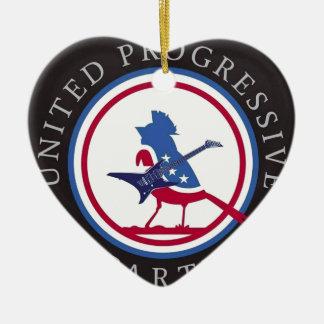 United Progressive Party Rock n Roll Logo Ceramic Ornament