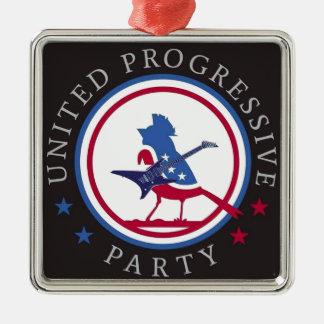 United Progressive Party Rock n Roll Logo Metal Ornament