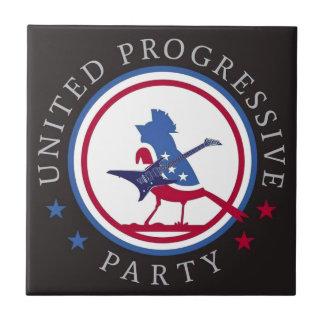 United Progressive Party Rock n Roll Logo Tile