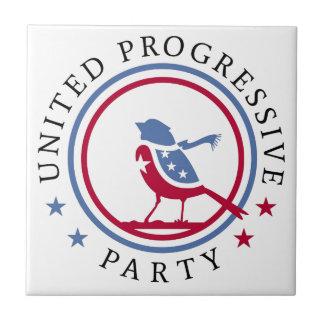 United Progressive Party Scarf Logo Merchandise Ceramic Tile