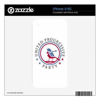United Progressive Party Scarf Logo Merchandise Skin For iPhone 4S