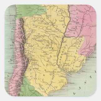 United Provinces, Chili and Patagonia Square Sticker