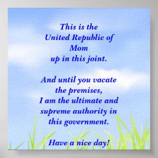 United Republic of Mom Poster